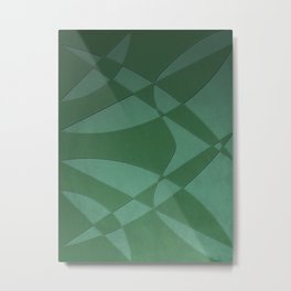 Wings and Sails - Green and Light Green Metal Print