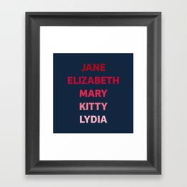 The Bennet Sisters from Pride and Prejudice Framed Art Print