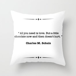 Charles M. Schulz Quote Throw Pillow