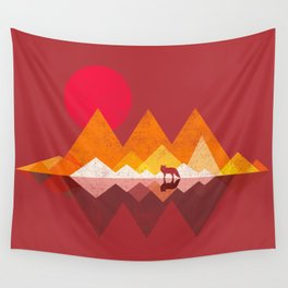 Roaming Lands - Wolf in mountains / animal t shirt, animal print t shirt, wildlife t shirt, Wall Tapestry
