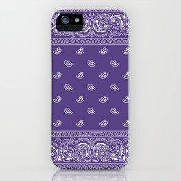 Bandana - Southwestern - Ultra Violet iPhone Case