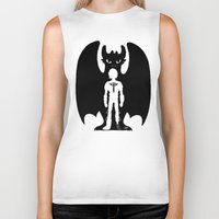 hiccup Biker Tanks featuring Heart of a Chief Soul of a Dragon by Chouly-Shop
