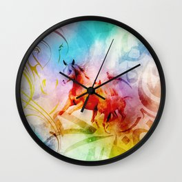 Arabic Calligraphy Horse Art Wall Clock