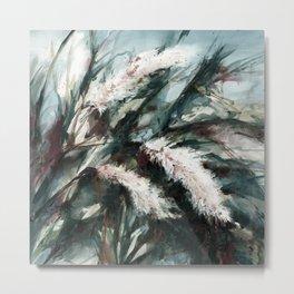Pampas Grass 1i by Kathy Morton Stanion Metal Print