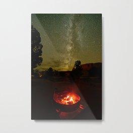 FIRESIDE UNDER THE SUMMER UTAH DESERT SKY Metal Print