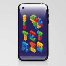 I Heart Tetris iPhone & iPod Skin