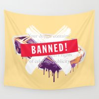 sports Wall Tapestries featuring Banned Brand_Luxury Sports Car by G_Stevenson