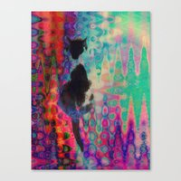 kit king Canvas Prints featuring Kit Kat by aeolia