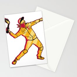 molotov thrower  Stationery Cards