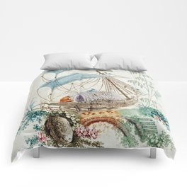 Chinoiserie Embroidery Comforters