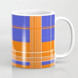 Orange and Blue Plaid Coffee Mug