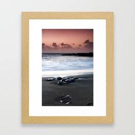 Sunset on the Rocks Framed Art Print