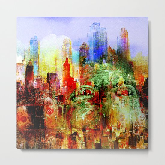 welcome to scary city Metal Print