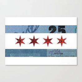Ephemeral Chicago Flag Canvas Print