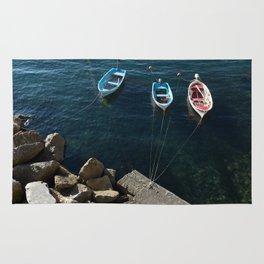 Cinque Terre Boats Rug