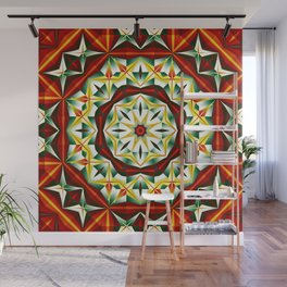 Winter cheer, abstract pattern design Wall Mural