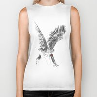 the winter soldier Biker Tanks featuring winged winter soldier by Zee Mendoza