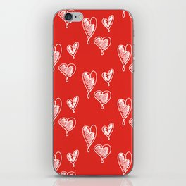 friends hearts iPhone Skin