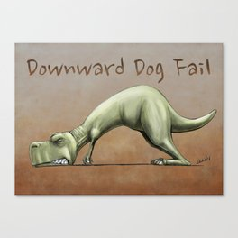 Downward Dog Fail Canvas Print