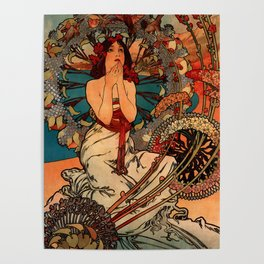 "Alphonse Mucha ""Monaco Monte Carlo"" Poster"