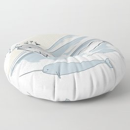 The Friendly Narwhal Floor Pillow