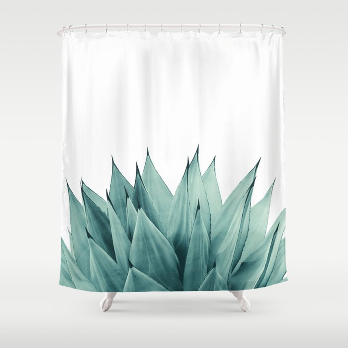 Agave Vibes #8 #tropical #decor #art #society6 Shower Curtain