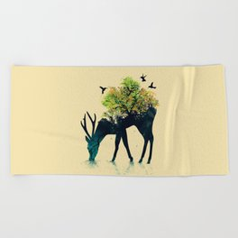 Watering (A Life Into Itself) Beach Towel