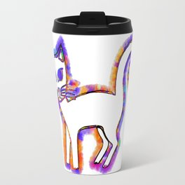 Any cat is a cat from his whiskers to his tail... Travel Mug
