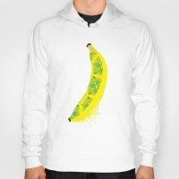 banana Hoodies featuring Banana by SaraWired