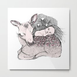 Bambi Night Metal Print