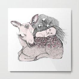 Bambi Night Metal Print