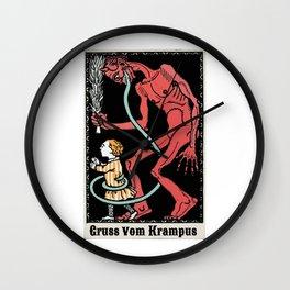 Gruss Vom Krampus Greetings From Christmas Demon Wall Clock