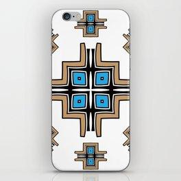 aztec cross mandala iPhone Skin