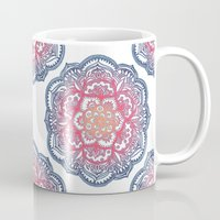 bedding Mugs featuring Radiant Medallion Doodle by micklyn