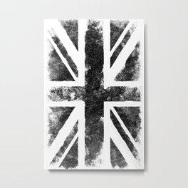 Black Union Jack Metal Print