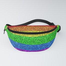 LGBT flag vibrant rainbow glitter sparkles Fanny Pack