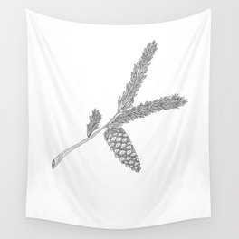 Pine Sprig Wall Tapestry