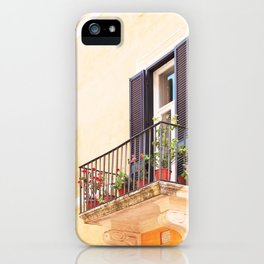 185. Orange Wall, Rome iPhone Case