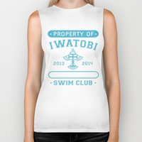 iwatobi Biker Tanks featuring Free! Iwatobi Swim Club - Athletic  by Cup of June
