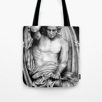 demon Tote Bags featuring Demon by leonmorley