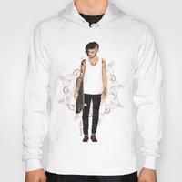 zayn Hoodies featuring Skater Zayn  by Coconut Wishes