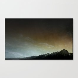 The Mountains are Calling and Rainbow Canvas Print