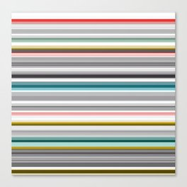 grey and colored stripes Canvas Print