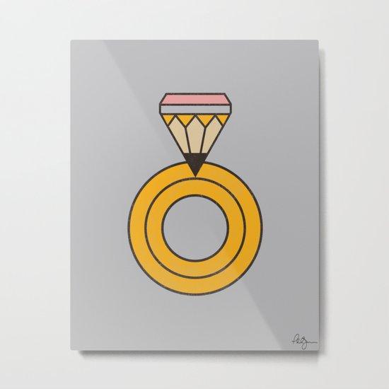 Draw Ring Metal Print