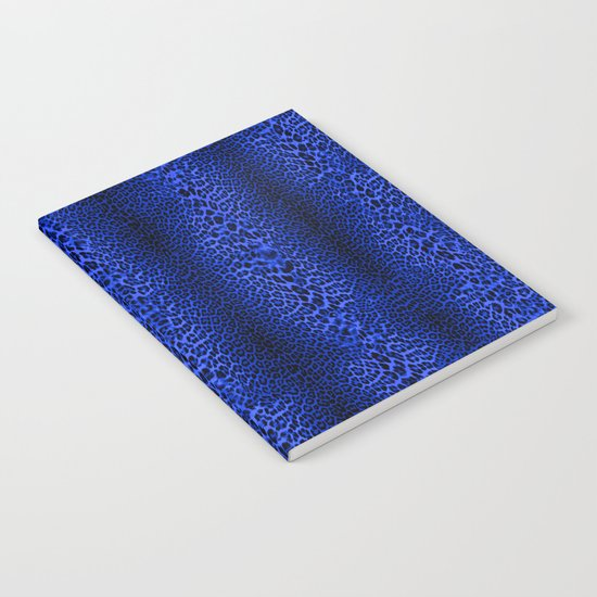 Wild Blue Leopard Notebook