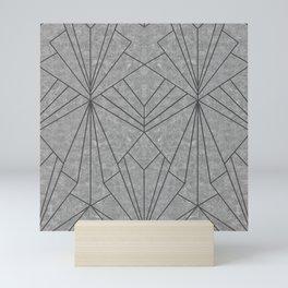 Art Deco in Black & Grey - Large Scale Mini Art Print