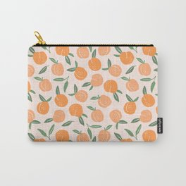 Peach Illustration Carry-All Pouch