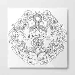 Anchor Tattoo Color Your Own Art Skilled Sailor Quote Metal Print