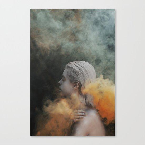 Yellow smoke Canvas Print