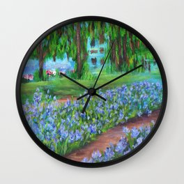 Monet's Garden AC20110715a Wall Clock
